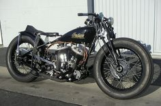Black Indian Motor Bike
