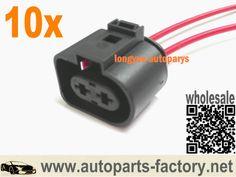"longyue, 2 Pin Plug Connector Loom Wiring Socket 1J0973752 For VW AUDI 1J0 973 752 8"""