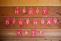Happy birthday, Kate! Custom designed by The Card Bar