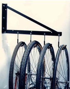 An innovative and inexpensive solution to maximizes your garage storage space. Made of high-quality materials, very sturdy and can easily holds the weight of a bicycle, yard equipment, tools or any other items that is stored in a garage.