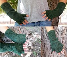 Fingerless Gloves Inspired by Mitchell from Being Human on BBC.