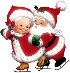 Mr And Mrs Claus Clipart clipart Merry Christmas Gif, Christmas Scenes, Christmas Clipart, Father Christmas, Christmas Pictures, Christmas Art, Beautiful Christmas, All Things Christmas, Vintage Christmas