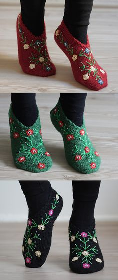 Women Festive Socks Slippers