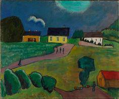 Gabriele Münter (1877-1962) From Norway (Tjellebotten), 1917