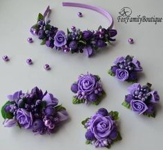 Flower Hair Bows, Flower Band, Flower Hair Accessories, Flower Headpiece, Wedding Accessories, Rose Crown, Flower Crown, Diy Hair Wreath, Floral Headbands