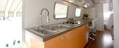 Airstream Renovations | airstream-sovereign-dressing-room-kitchen-930x375