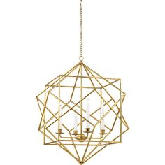 Bring chic style to your living room, dining room, or foyer with this elegant metal pendant, showcasing a gold finish and openwork frame.   ...
