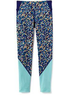 Go-Dry Color-Block Leggings for Girls