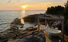 romantic honeymoon destination - private island in Cambodia with all luxury amenities Outdoor Bathtub, Wellness Resort, Secluded Beach, Romantic Honeymoon, Plunge Pool, Rock Pools, Island Resort, Beach Hotels, Nice View