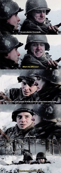 The difference between a medic and a doctor - Band of Brothers