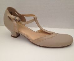 Hotter Shoes Womens Size 8 M Beige Mary Jane Heels 8M Rumba  | eBay