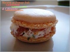 Macarons sucrés salés : foie gras ou saumon