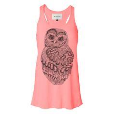Baby Owl Tank Womens