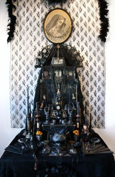 French Vintage Mary Altar~ Laurie Beth Zuckerman - shes a local gal ya know Religious Icons, Religious Art, Denver, Home Altar, Assemblage Art, Magick, Witchcraft, Wiccan, Our Lady