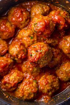 Italian Sausage Meatballs, Easy Baked Meatballs, Baked Meatball Recipe, Italian Sausage Recipes, How To Cook Meatballs, Sweet Italian Sausage, Spicy Sausage, Meatball Recipes, Meatballs 4