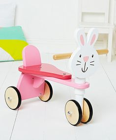 ELC Wooden Bunny Trike Baby Ride On, Kids Checklist, Ride On Toys, Toys Shop, Early Learning, Rose Buds, Bunny, Centre, Rabbit