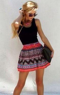 Fashionable Patchwork Sleeveless O-neck Short Dress