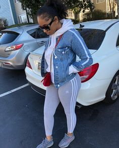 46 Comfy Casual Outfits Ideas With Leggings for Fall - Artbrid - Lazy Day Outfits, Chill Outfits, Everyday Outfits, Trendy Outfits, Cute Outfits, Fall Swag Outfits, Outfits For Black Girls, Casual Weekend Outfit, Legging Outfits