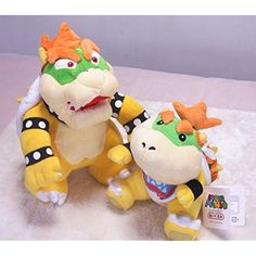 "Super Mario 6.5"" Bowser Jr. And 10"" Standing Bowser Koopa King Character Stuffed Plush Toy Figure Kids Gift By Fantastic House -- Visit the image link more details. (This is an affiliate link) #PlushFigures"
