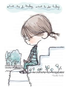 Stairs Drawing Illustration Ideas For 2019 Doodle Drawings, Cute Drawings, Doodle Art, Children's Book Illustration, Book Illustrations, Little Girl Illustrations, Pictures To Draw, Drawing Pictures, Whimsical Art