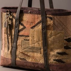 Patched worn Navajo tote bag.  In the web shop--link in profile
