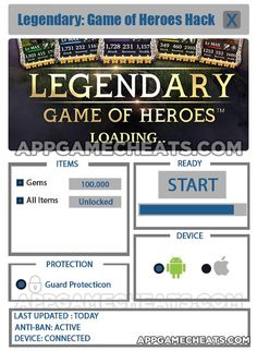 Legendary: Game of Heroes Tips, Hack, & Cheats for Gems & All Items Unlock  #Action #Legendary:GameofHeroes #RPG http://appgamecheats.com/legendary-game-of-heroes-tips-hack-cheats/