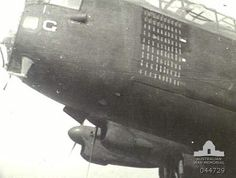 """NOSE VIEW OF NO. 460 SQUADRON RAAF. AVRO LANCASTER BOMBER """"G FOR GEORGE"""" SHOWING """"MISSIONS"""". (DONOR H. W. ANDREWS) ID # 044729 http://www.awm.gov.au/collection/044729/#"""