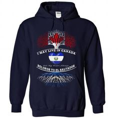 Live in CANADA, But My Heart Always Belongs To El Salva - #anniversary gift #grandparent gift. SATISFACTION GUARANTEED => https://www.sunfrog.com/Funny/Live-in-CANADA-But-My-Heart-Always-Belongs-o-El-Salvador-8855-NavyBlue-Hoodie.html?68278