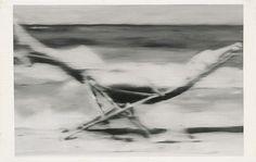 Gerhard Richter, Liegestuhl (Deckchair) 1964, 60 cm x 95 cm, Oil on canvas