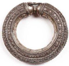 Antique Bedouin Tribal Bracelet Silver Cuff Yemeni Nomad Jewelry