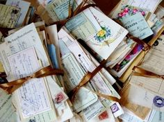bundles of hand written letters from a loved one