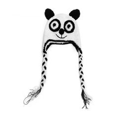 NeedyBee Baby Handmade Unisex Panda Themed Black and White crochet knitting #cap for #Toddlers and #Babies