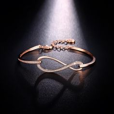 infinity bracelet on sale at reasonable prices, buy NEWBARK Micro CZ Paved Figure 8 Infinity Bracelet Rose Gold Color And Silver Color Lobster Clasp Eternity Jewelry from mobile site on Aliexpress Now! Jewelry Tags, Jewelry Bracelets, Silver Jewelry, Link Bracelets, Jewellery, Jewelry Shop, Gold Bangle Bracelet, Gold Bangles, Gold Bracelet For Women