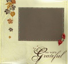 2 page Scrapbooking Page kit - So Very Grateful - Thanksgiving by CropALatteToGo on Etsy