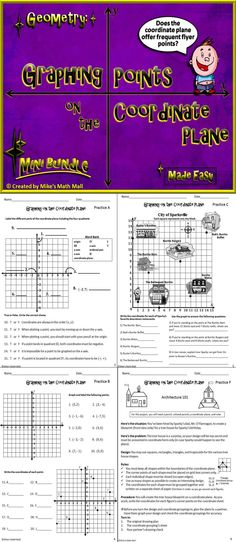 This 5th grade graphing coordinates bundle completely covers CCSS 5.G.A.1 and 5.G.A.2. Included in this lesson: Fun, interactive PowerPoint with practice problems, worksheets (representing real world problems), graphing project, comprehensive quiz, notes, graphing paper, and more! You and your students will love it! Mike's Math Mall - $