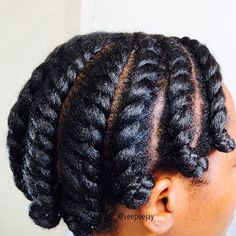 FLAT TWISTS WITH BANTU KNOTS Kinky,Curly,Relaxed,Extensions Board