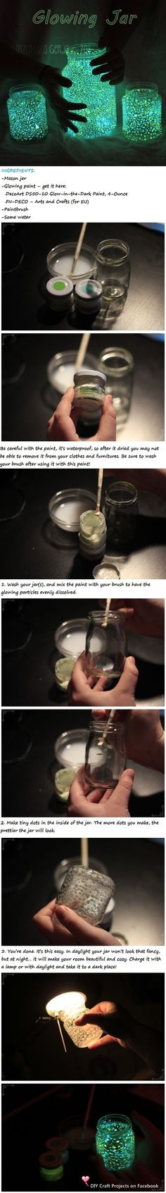 DIY Glowing Jar diy crafts craft ideas easy crafts diy ideas diy idea diy home…