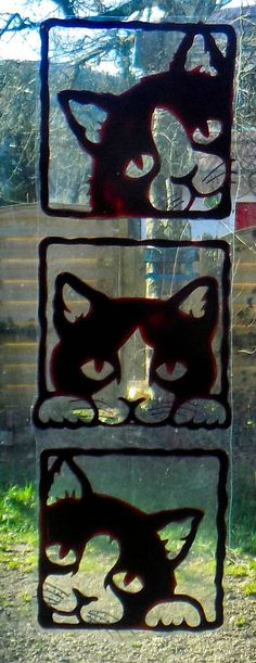 WICOART STICKER WINDOW COLOR CLING FAUX STAINED GLASS CHATONS A LA FENÊTRE