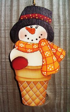 Snow Cone Christmas Ornament by stephskeepsakes on Etsy, $6.50