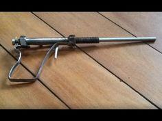 Single shot homemade pistol made from scrap - YouTube