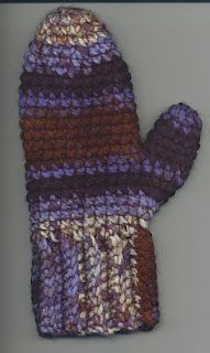 Crocheted Mittens.