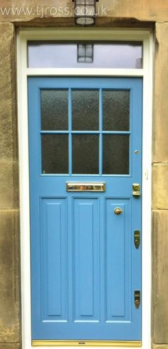 Bespoke entrance door in client's choice of colour.External door, painted door Farrow & Ball paint, RAL colours