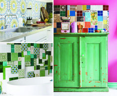 Your Home is Lovely: interiors on a budget: Quirky tiled kitchen splashbacks