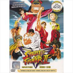 DVD ANIME STREET FIGHTER II V Complete TV Series Vol.1-29End Region All English
