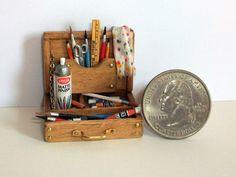 Miniature Artist Paint Box 1 inch dollhouse by MarquisMiniatures