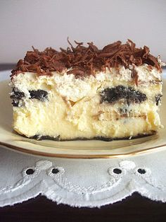 Dessert Cake Recipes, Sweet Desserts, Sweet Recipes, Delicious Desserts, Polish Desserts, Polish Recipes, Kolaci I Torte, Homemade Cakes, Christmas Baking