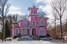 pink house Wellsville N.Y.