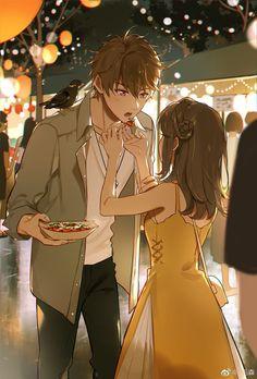 Anime Couples Drawings, Anime Couples Manga, Cute Anime Couples, Manga Anime, Cute Couple Art, Anime Love Couple, Perfect Couple, Anime Love Story, Romantic Manga