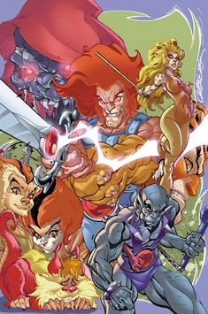 Thundercats by J. Scott Campbell: Flashback to my childhood. Comic Book Artists, Comic Book Heroes, Comic Artist, Comic Books Art, Rogue Comics, Marvel Comics, Gi Joe, Robert E Howard, J Scott Campbell
