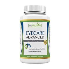 Eye Care Advanced Eye Vitamins with Lutein and Zeaxanthin by Bay Nutrition #BayNutrition